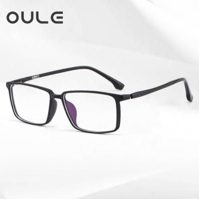 OULE 男士商务全框眼镜框 TR眼镜架新款全框眼镜架 磨砂黑