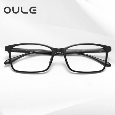 OULE 新款韩国超轻TR90眼镜框 防蓝光防辐射方形近视眼镜框 磨砂黑