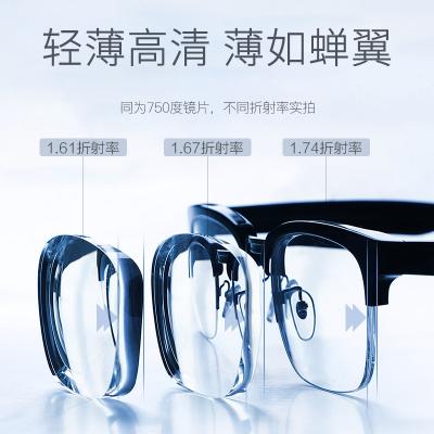 OULE远视老花镜片 1.56超薄非球面防辐射防紫外镜片 两片价