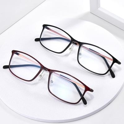 OULE TR90韩版眼睛框光学近视眼镜架 超轻复古方框眼镜框 黑色