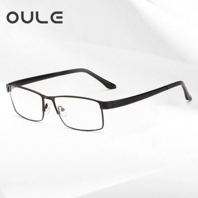 OULE 全框超大眼镜框 大脸眼镜架钛合金TR腿舒适超轻眼镜 黑色