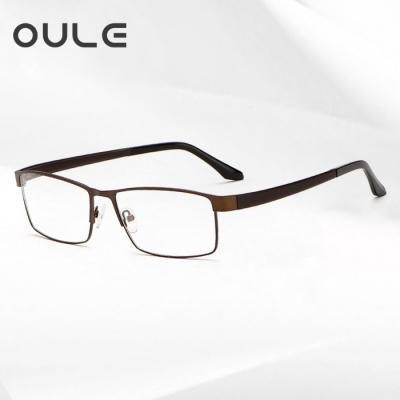 OULE 全框超大眼镜框 大脸眼镜架钛合金TR腿舒适超轻眼镜 咖啡色