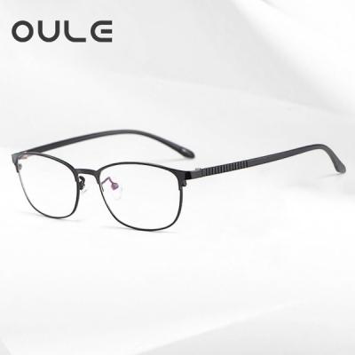 OULE 女士商务复合金眼镜架 女士商务复合金眼镜架 黑色