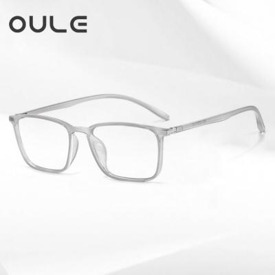 OULE 新款全框透明眼镜框 男女网红同款TR90时尚潮流眼镜架 透灰色