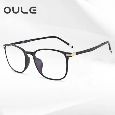 OULE 新款全框TR90眼镜架 超轻舒适全框文艺眼镜框 黑色