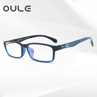OULE 超轻近视眼镜舒适方框眼镜架 全框TR90近视眼镜框 蓝色