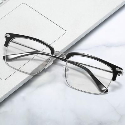 OULE 男女同款经典复古板材眼镜框 大脸时尚网红大框眼镜 黑色