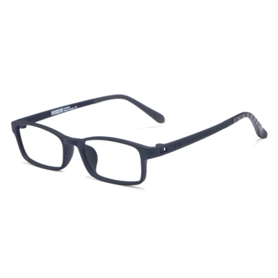 OULE 青少年防蓝光近视眼镜框 超轻TR90双色防辐射眼镜 磨砂黑