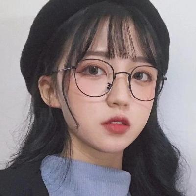OULE 新款复古椭圆全框近视眼镜 男女防蓝光近视眼镜框 银色