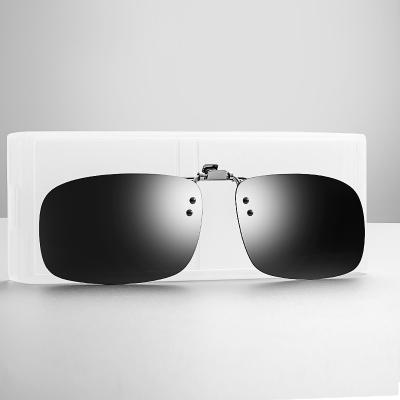 OULE 新款墨镜夹片偏光镜 男女近视眼镜套镜偏光镜夹片 蛤蟆反光