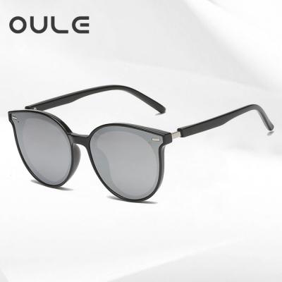 OULE 儿童TR90偏光太阳镜 GM同款韩版潮镜墨镜 黑框水银片
