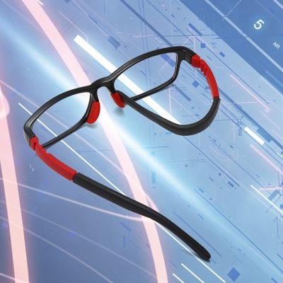 OULE 儿童防蓝光眼镜防辐射护目眼镜 男女超轻近视眼镜框 黑色