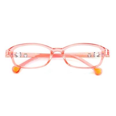 OULE 儿童TR90眼镜架 儿童彩色小学生轻盈配近视眼镜框 蓝色