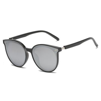OULE 儿童TR90偏光太阳镜 GM同款韩版潮镜墨镜 黑框黑灰片