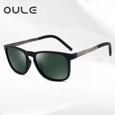 OULE 新款潮男驾驶太阳镜 男士钓鱼开车专用偏光太阳镜 墨绿片