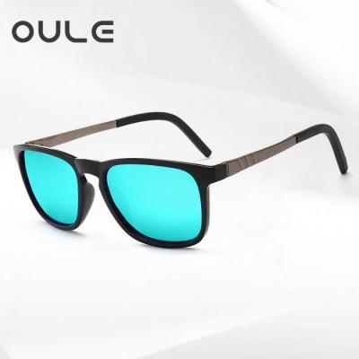 OULE 新款潮男驾驶太阳镜 男士钓鱼开车专用偏光太阳镜 冰蓝片