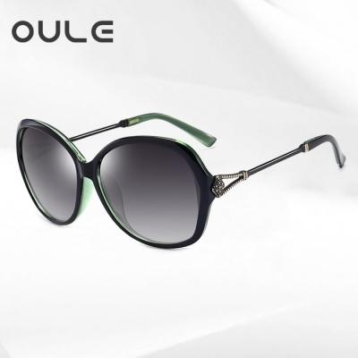 OULE 新款女士优雅太阳镜 防紫外线偏光镜驾驶开车墨镜 绿色