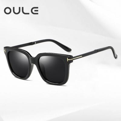 OULE 男女士潮流偏光太阳镜 网通同款时尚开车驾驶墨镜 黑灰片