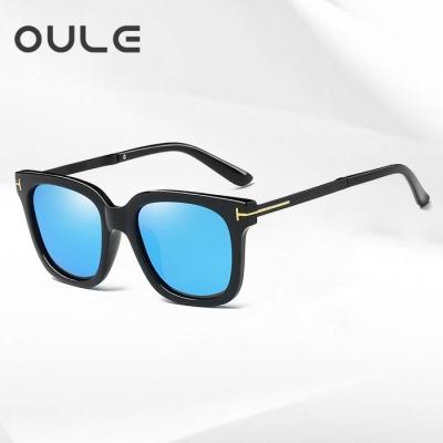 OULE 男女士潮流偏光太阳镜 网通同款时尚开车驾驶墨镜 冰蓝片