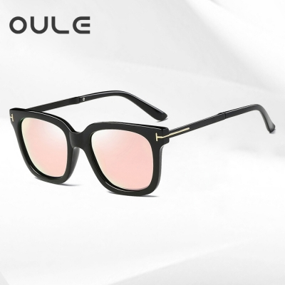 OULE 男女士潮流偏光太阳镜 网通同款时尚开车驾驶墨镜 芭比粉