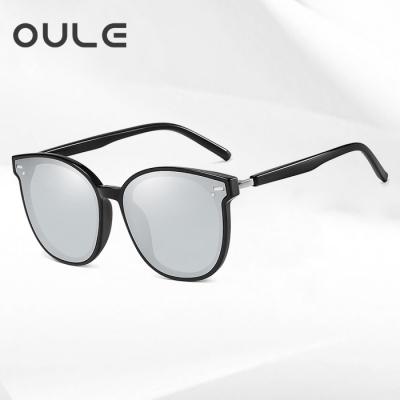OULE 显瘦GM韩版潮网红款街拍防紫外线墨镜 男女同款偏光太阳镜 水银片