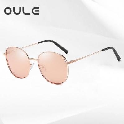 OULE 女韩版潮流复古网红网红 新款防紫外线偏光太阳镜 海洋片