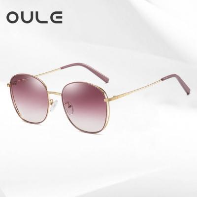 OULE 女韩版潮流复古网红网红 新款防紫外线偏光太阳镜 渐进紫