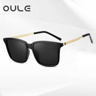 OULE 男韩版潮时尚防紫外线偏光太阳镜 男士开车专用驾驶镜 黑灰片