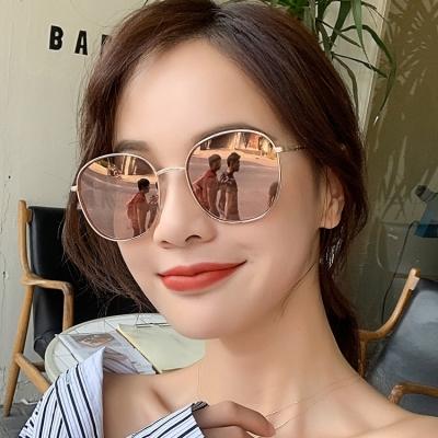 OULE 女韩版潮流复古网红网红 新款防紫外线偏光太阳镜 黑灰片